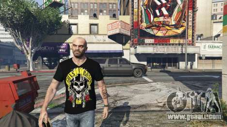 Trevor Guns and Roses Top Hat Shirt for GTA 5