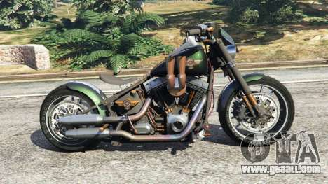 GTA 5 Harley-Davidson Fat Boy Lo Racing Bobber v1.1 left side view