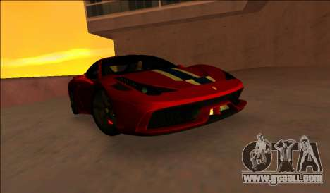 Ferrari 458 Speciale for GTA Vice City left view