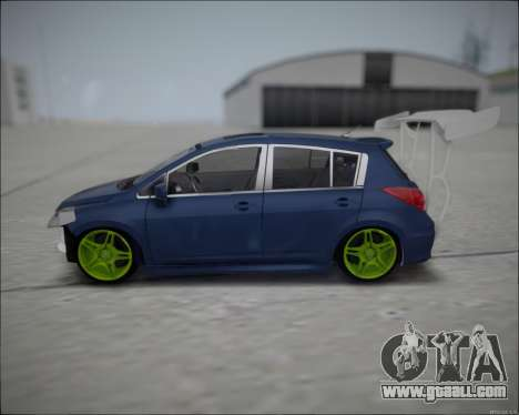 Nissan Tiida Drift Korch for GTA San Andreas left view