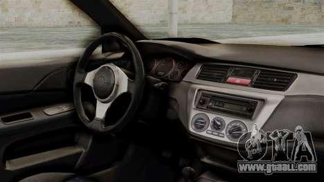 Mitsubishi Lancer Evolution v2 for GTA San Andreas right view