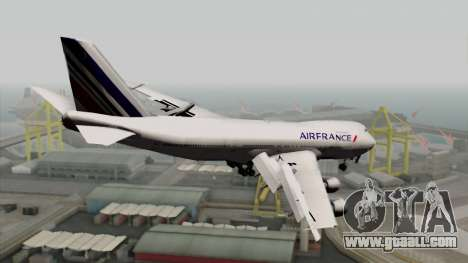 Boeing 747-200 Air France for GTA San Andreas left view