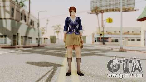 DOA 5 Kasumi Blue Sweater for GTA San Andreas second screenshot
