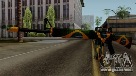 Brasileiro M4 v2 for GTA San Andreas second screenshot