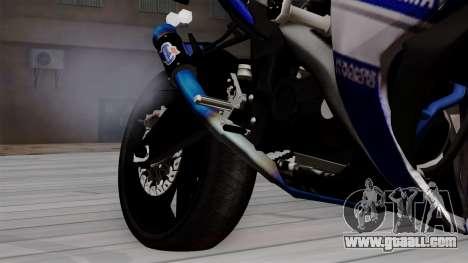 Yamaha YZF R-25 GP Edition 2014 for GTA San Andreas right view