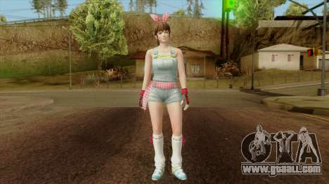 Dead Or Alive 5 Hitomi Overalls for GTA San Andreas second screenshot