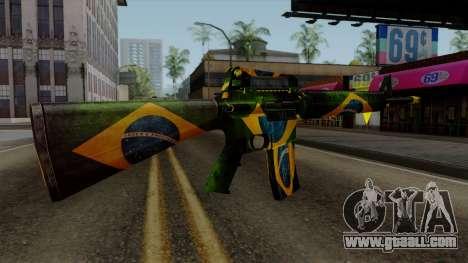 Brasileiro M4 v2 for GTA San Andreas third screenshot