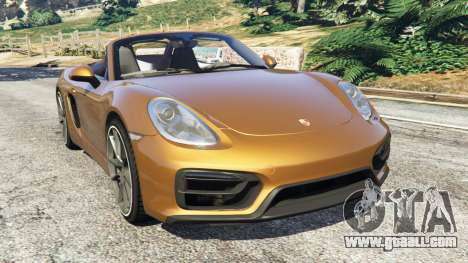 Porsche Boxster GTS for GTA 5