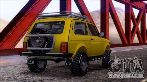 VAZ 2121 Niva Offroad for GTA San Andreas engine