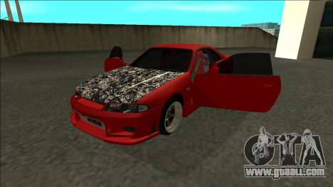 Nissan Skyline R33 Fairlady for GTA San Andreas back view