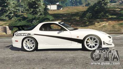 GTA 5 Mazda RX-7 C-West v0.3 left side view