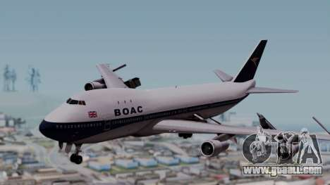 Boeing 747-100 British Overseas Airways for GTA San Andreas