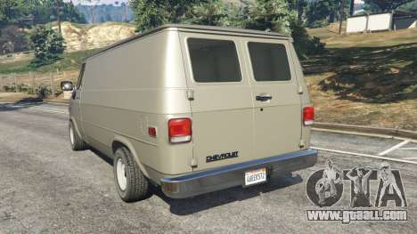 GTA 5 Chevrolet G20 Van rear left side view