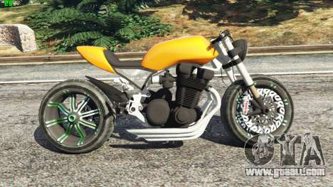 GTA 5 Honda CB 1800 Cafe Racer Paint left side view