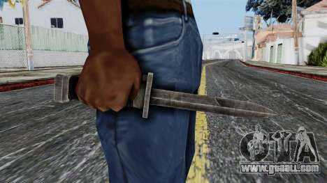 Allied Knife from Battlefield 1942 for GTA San Andreas third screenshot