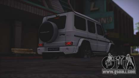 Mercedes Benz G65 AMG 2015 Topcar Tuning for GTA San Andreas bottom view