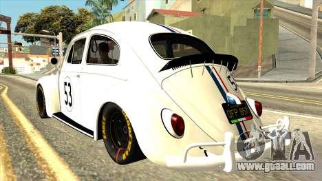 Volkswagen Beetle Herbie Fully Loaded for GTA San Andreas left view