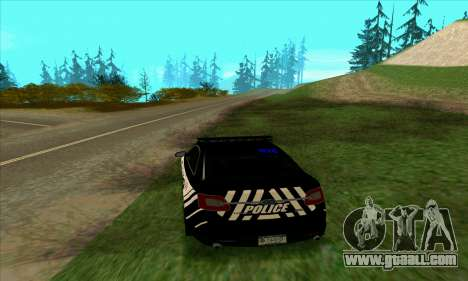 Federal Police Ford Taurus HSO for GTA San Andreas back left view
