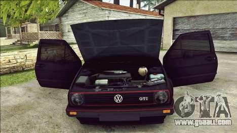 Volkswagen Golf Mk2 Line for GTA San Andreas bottom view