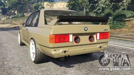 BMW M3 (E30) 1991 Drift Edition v1.0 for GTA 5