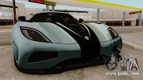 Koenigsegg Agera R 2014 for GTA San Andreas inner view
