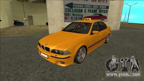 1999 BMW 530d E39 Taxi for GTA San Andreas