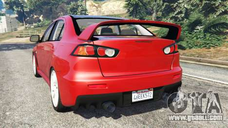 GTA 5 Mitsubishi Lancer Evolution X rear left side view