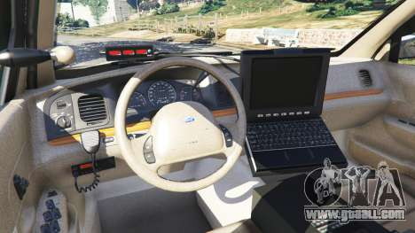 GTA 5 Ford Crown Victoria 1999 Police v0.9 right side view