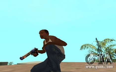 Desert Eagle with a tiger cub for GTA San Andreas third screenshot