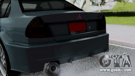 Mitsubishi Lancer Evolution Turbo for GTA San Andreas back view