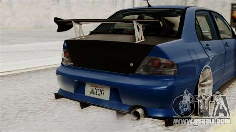 Mitsubishi Lancer Evolution v2 for GTA San Andreas inner view