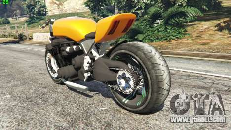 GTA 5 Honda CB 1800 Cafe Racer Paint rear left side view