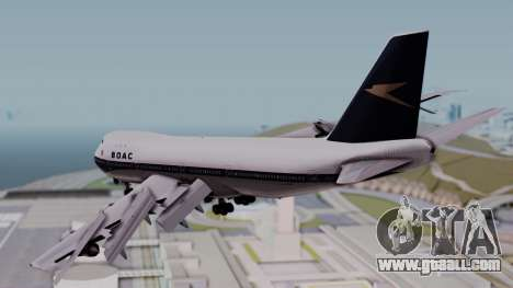 Boeing 747-100 British Overseas Airways for GTA San Andreas left view