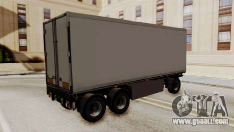 Cooliner Trailer from ETS 2 for GTA San Andreas left view