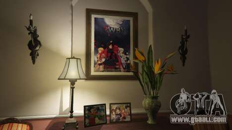Anime posters for home Michael for GTA 5