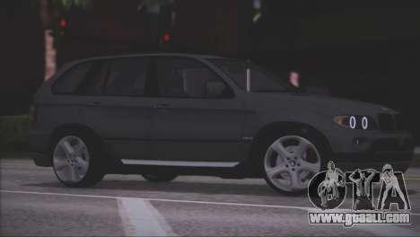 BMW X5 E53 for GTA San Andreas bottom view