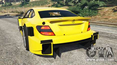 GTA 5 Mercedes-Benz C204 AMG DTM 2013 rear left side view