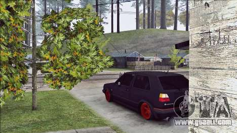 Volkswagen Golf Mk2 Line for GTA San Andreas back left view