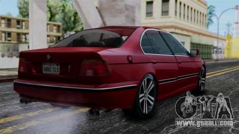 BMW M5 E39 SA Style for GTA San Andreas left view