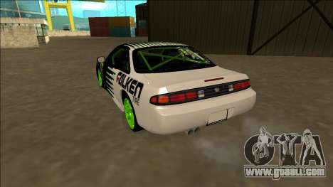 Nissan 200SX Drift Monster Energy Falken for GTA San Andreas back left view