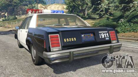 GTA 5 Ford LTD Crown Victoria 1987 LSPD rear left side view