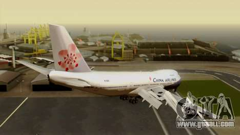 Boeing 747-200 China Airline for GTA San Andreas left view