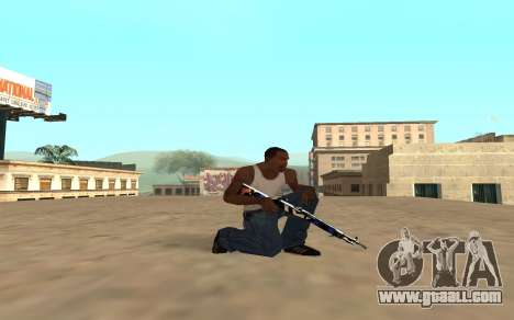 Rifle with a tiger cub for GTA San Andreas