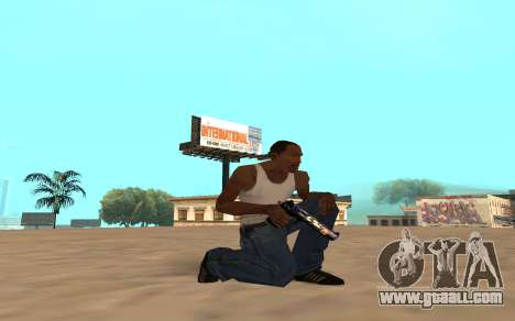 Desert Eagle with a tiger cub for GTA San Andreas forth screenshot