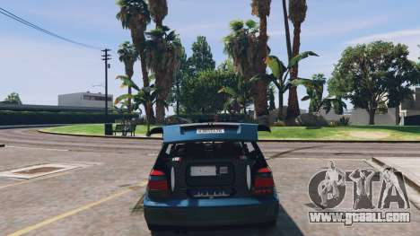 GTA 5 Volkswagen Golf MK3 GTi back view