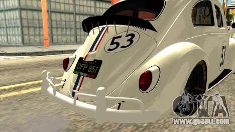 Volkswagen Beetle Herbie Fully Loaded for GTA San Andreas back view