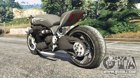 GTA 5 Honda CB 1800 Cafe Racer with Stickers rear left side view