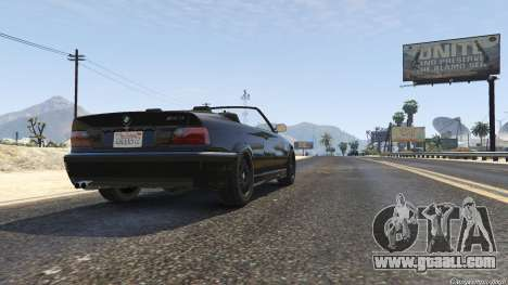 GTA 5 BMW M3 E36 Cabriolet 1997 back view
