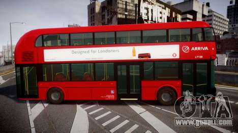 Wrightbus New Routemaster Arriva for GTA 4 left view