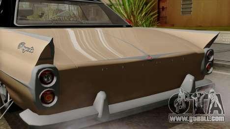 Vapid Peyote Bel-Air for GTA San Andreas inner view